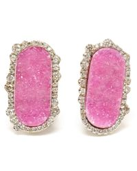 Kimberly Mcdonald | Pink Cobalto Calcite and Irregular Diamond Earrings | Lyst