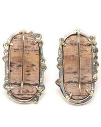 Kimberly Mcdonald - Pink Cobalto Calcite and Irregular Diamond Earrings - Lyst