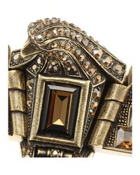 Lanvin | Metallic Crystal Bead Embellished Pendant Necklace | Lyst