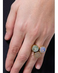 Mango - Blue Touch Three Stones Ring - Lyst