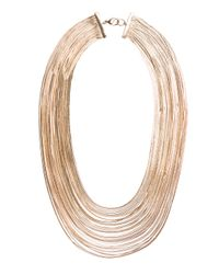 Mango | Metallic Touch Cascading Effect Necklace | Lyst