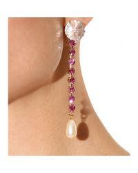 Miu Miu - Pink Ara Crystal Bead Embellished Drop Earrings - Lyst