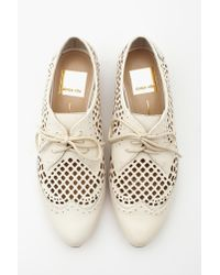Nasty Gal - White Orina Cut-out Oxford Bone - Lyst