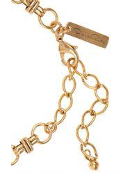 Oscar de la Renta | Metallic 24karat Goldplated Guitar Necklace | Lyst