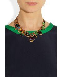Tom Binns - Metallic Faux Real Goldplated Swarovski Crystal Necklace - Lyst