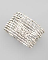 Chamak by Priya Kakkar | Metallic Set Of 10 Thin Crystal Bangles | Lyst