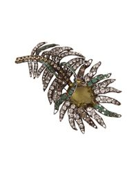 Iradj Moini - Multicolor Citrine and Emerald Feather Pin - Lyst