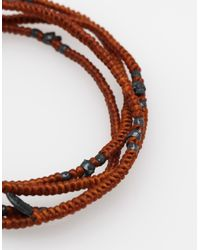 M. Cohen | Brown 4 Layer Hand Knotted Wrap for Men | Lyst