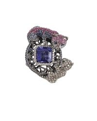 Wendy Yue - Blue Sapphire and Tanzanite Ring - Lyst