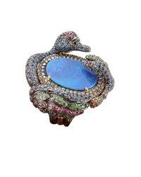 Wendy Yue | Blue Boulder Opal Swan Ring | Lyst