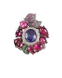 Wendy Yue - Blue Rhodulite Garnet and Pink Sapphire Ring - Lyst