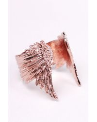Wildfox - Pink Gold Plated Wing Bracelet - Lyst