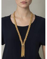Aurelie Bidermann - Metallic Miki Dora Plaited Rope Necklace - Lyst