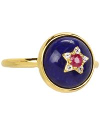 Elizabeth and James - Metallic Victorian Star Small Ring - Lyst