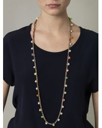 Venessa Arizaga - Metallic Plaitedcord and Pearl Embellished Necklace - Lyst