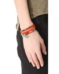 Chan Luu | Orange Beaded Bracelet Set | Lyst
