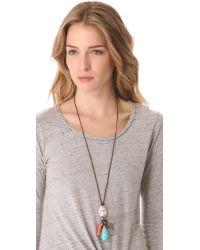 Chan Luu - Blue Multi Charm Necklace - Lyst