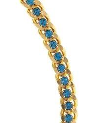 DANNIJO - Blue Duenas Goldplated Swarovski Crystal Necklace - Lyst