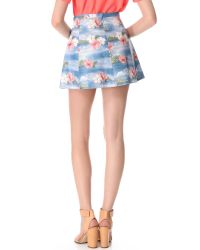 Love Leather - Blue Hawaiian Punch A Line Mini Skirt - Lyst