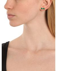 BaubleBar | Green Navy Minnie Bow Studs | Lyst