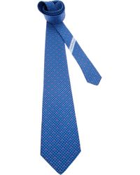 Ferragamo - Blue Gancino Tie for Men - Lyst