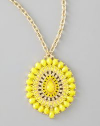 Panacea - Yellow Epoxy Pendant Necklace - Lyst