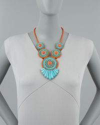 Panacea - Blue Tribal Rope Bib Necklace - Lyst