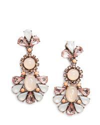 Mango - White Touch Stones Earrings - Lyst