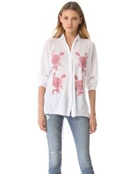 Wildfox | White Sunday Button Down Shirt | Lyst