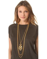 Ben-Amun - Metallic Portofino Layered Pendant Necklace - Lyst