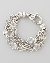 Lagos | Metallic Venus Rock Crystal Station Bracelet | Lyst