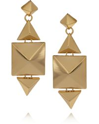 Noir Jewelry - Metallic 18karat Goldplated Earrings - Lyst