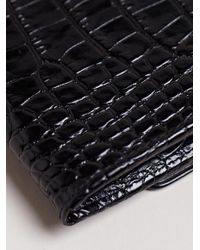 Dries Van Noten - Black Reptile Print Wallet - Lyst
