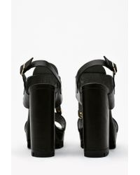 Nasty Gal - Black Leo Platform Sandal - Lyst