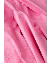 TOPSHOP - Pink Boa Top  - Lyst