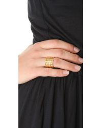 Wouters & Hendrix - Metallic Gold Tiered Ring - Lyst