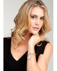 Bebe - Metallic Bebe Heart Padlock Charm Bracelet Web Exclusive - Lyst