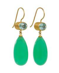 Mallary Marks - Green Mint Paraiba Chrysoprase Apple Eve Earrings - Lyst