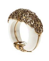 Oscar de la Renta | White Crystal Branch Bracelet | Lyst