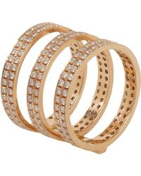 Repossi - White Diamond Gold 4row Berbere Ring - Lyst