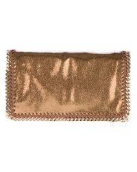 Stella McCartney - Brown Metallic Crackle Falabella Bag - Lyst