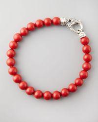 Stephen Webster | Beaded Red Coral Bracelet 8mm for Men | Lyst