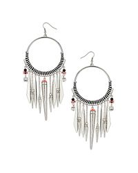 TOPSHOP | White Mono Thread Drop Earrings | Lyst