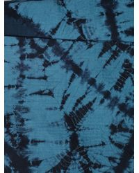 Boy by Band of Outsiders | Blue Tie Dye Wrap Skirt | Lyst
