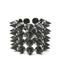Eddie Borgo - Metallic Four Layer Gemstone Cone Bracelet - Lyst