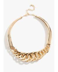 Bebe - Metallic Interlocked Link Collar Necklace - Lyst