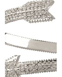 Eddie Borgo - Metallic Silverplated Crystal Arrow Bracelet - Lyst