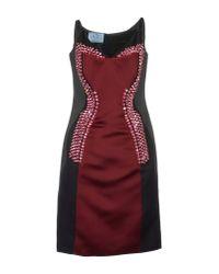 Prada - Red Short Dresses - Lyst