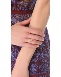 Aurelie Bidermann - Pink Vintage Lace Laser Cut Ring - Lyst