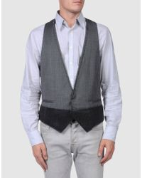 CoSTUME NATIONAL   Gray Waistcoat for Men   Lyst